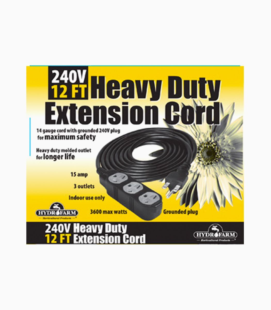Heavy Duty Extension Cord 240v 12 Greenlightsdirect