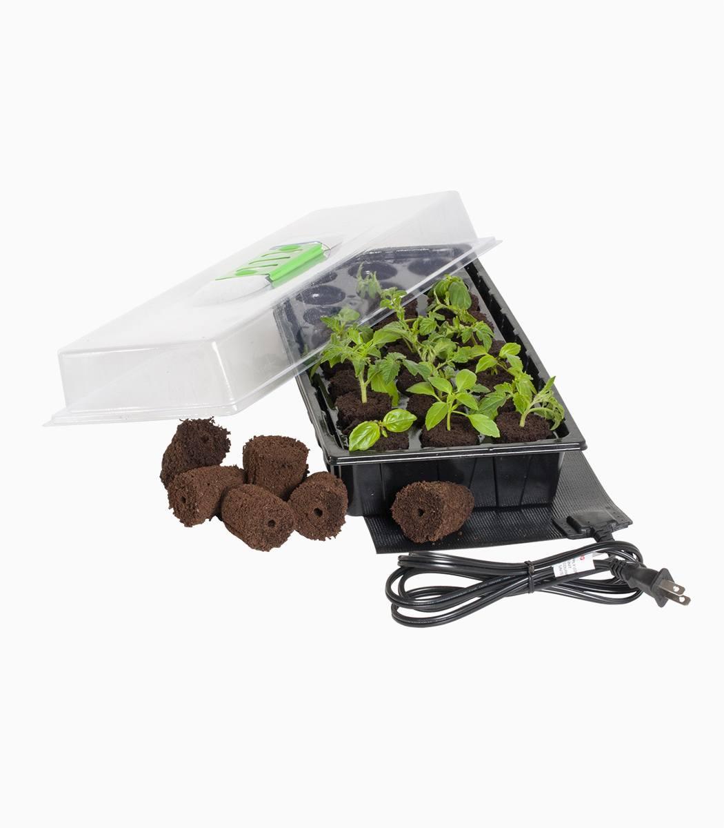 Jump Start 24-Cell Grow Plug Mini Germination Station with Heat Mat